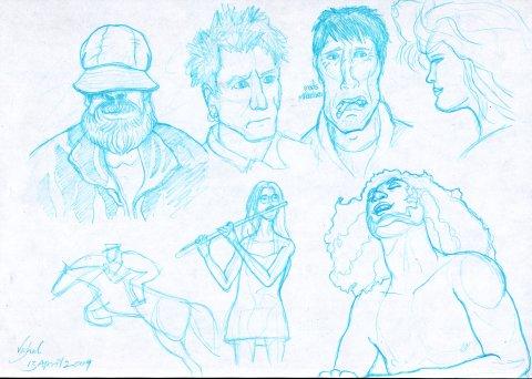 question about blue pencil sketches